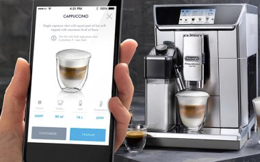 Contrôlez votre machine à café avec l'application gratuite.
