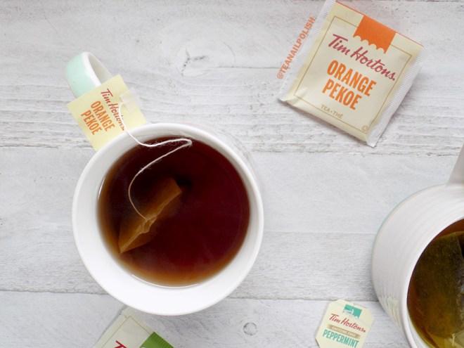 Examen des thés d'épicerie Tim Hortons - Examen du thé Orange Pekoe de Tim Hortons