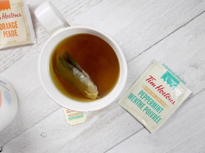 Examen des thés d'épicerie Tim Hortons - Examen du thé à la menthe poivrée Tim Hortons