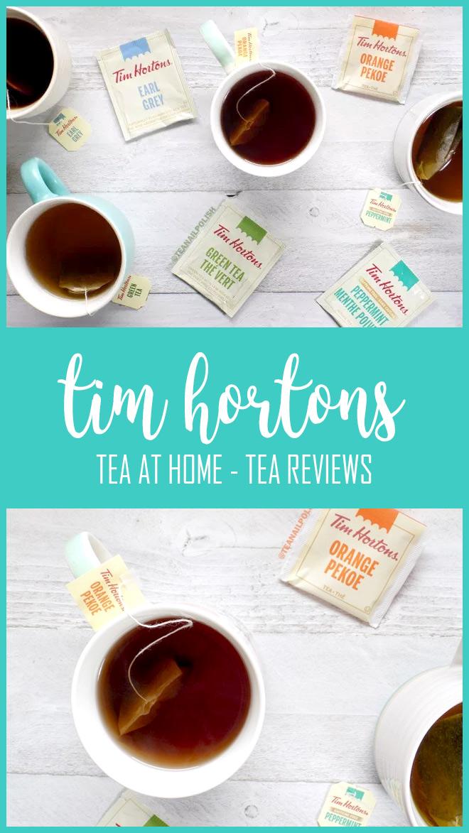 Sachets de thé Tea at Home de Tim Hortons Avis - Orange Pekoe - Earl Grey - Menthe Poivrée - Thé Vert