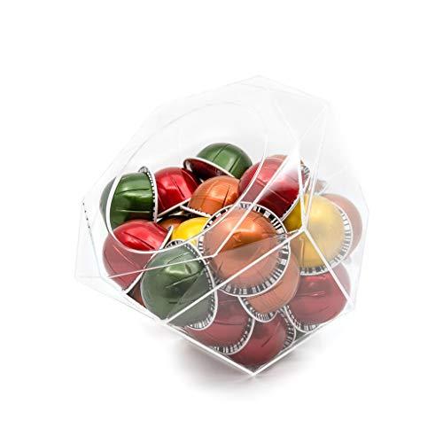 Porte-capsules Capsule en plexiglas Nespresso Vertuoline Hexagone, transparent, distributeur peu encombrant ...