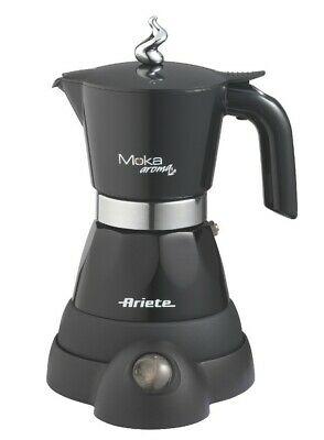 Tasse à moka électrique autoportante Ariete Moka Aroma, noir, 4 tasses, noir