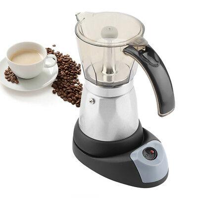 Cafetière électrique sans fil 6 tasses de cafetière espresso moka italienne 480w