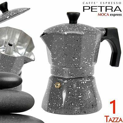 Cafetière 1 tasse de pierre Petra en aluminium Machine à café expresso MOKA C