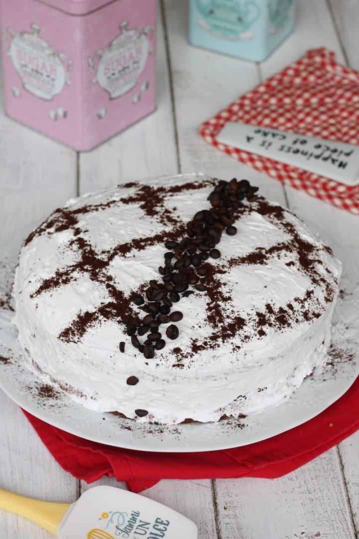 Gâteau paradis café au chocolat | Recette de gâteau au cacao avec crème paradis