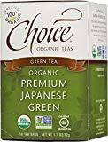 Thé biologique Choice Green Teas, 16 sachets de thé, vert japonais de qualité supérieure