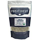 Positively Tea Company, poudre à canon à tête d'épingle biologique, thé vert, feuilles mobiles, USDA biologique, sac de 1 livre