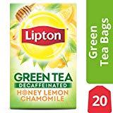 Thé vert Lipton, camomille au citron et au miel décaféiné, 20 ct (paquet de 6)