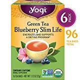 Yogi Tea - La vie mince de myrtille de thé vert - stimule et soutient un programme de régime - Paquet de 6, 96 sachets de thé au total
