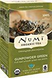 Numi Organic Tea Gunpowder Green, boîte de 18 sachets de sachets de thé (paquet de 3) (l'emballage peut varier)