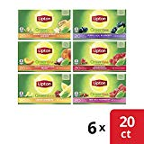 Lipton Tea Bags for a Delicious Refreshment Green Tea Variety Pack 100% Rainforest Alliance Certified 20 Count 6 Pack
