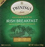 Twinings of London Irish Breakfast Black Tea Bags, 50 Count