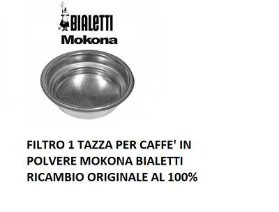 912840370 Filtre d'origine 1 tasse pour café moulu Mokona Bialetti Cf40