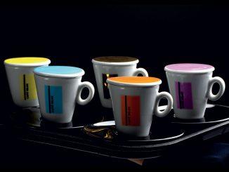 Les arômes du café milani et les nouvelles coupes colorées à l'hôtelex Guangzhou
