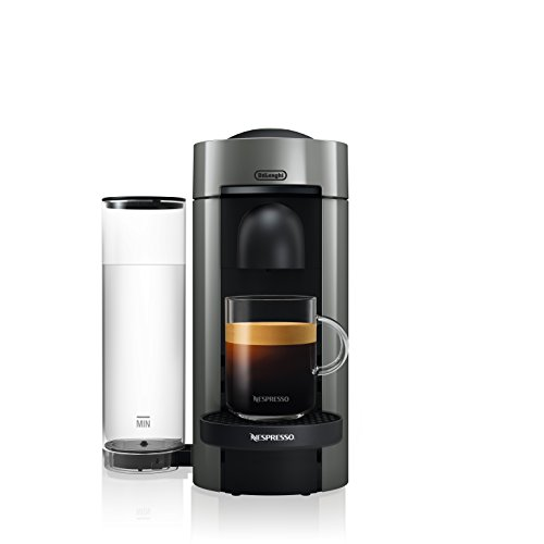 Machine à café et espresso Nespresso par De'Longhi ENV150GY VertuoPlus par De'Longhi, 5,6 x 16,2 x 12,8 pouces, métal graphite