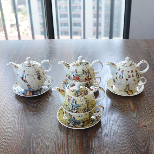 Meilleure qualité Angleterre Peter Rabbit café unique après-midi tasse de thé soucoupe Pot définit Solo belle bande dessinée