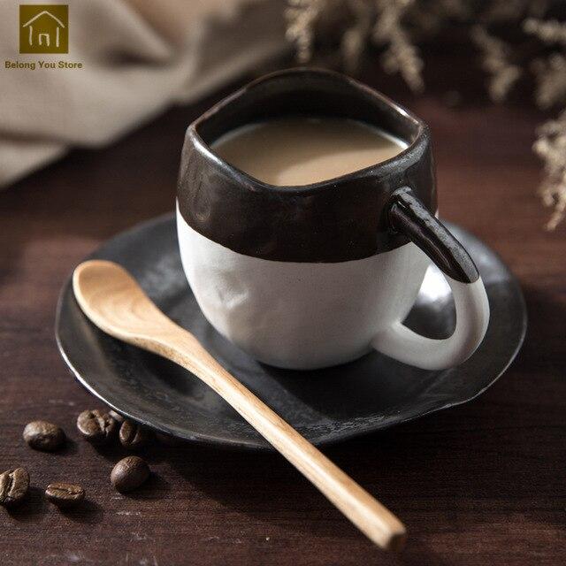 Unique Simple Large Creative Coffee Cup Set Tea Europe Handle Milk Safe Tekopp Best