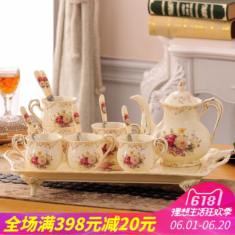 Ensemble de tasse à café en céramique européenne Kit de thé anglais l'après-midi Eau froide du ménage