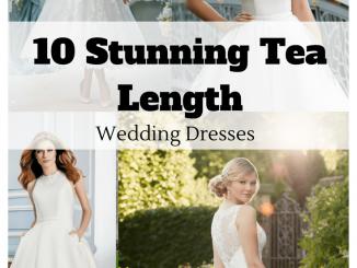 10 superbes robes de mariée de longueur de thé pour 2020