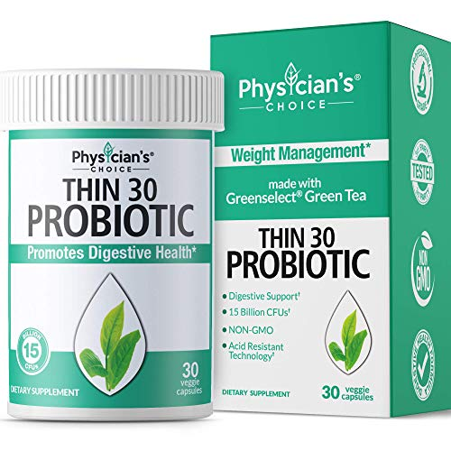 Probiotics for Women - Detox Cleanse & Weight Loss - Clinically Proven Greenselect - Prebiotics Organic, Digestive Enzymes, Apple Cider Vinegar & Green Tea Extract - Longue Conservation - 30 Capsules