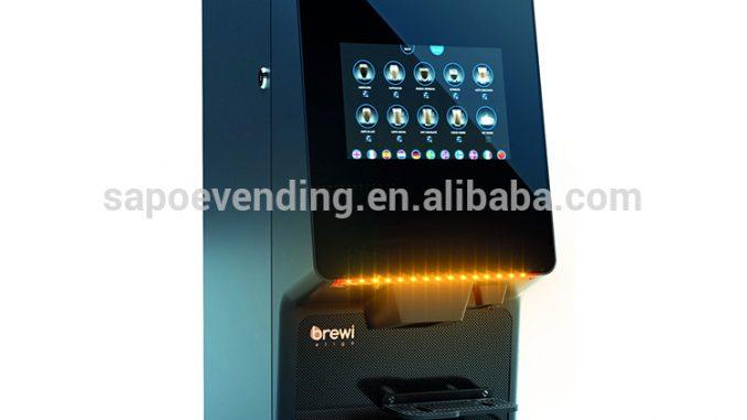 Brewi 2T32B eligo automática tela de toque máquina de feijão para o copo de café espresso comercial