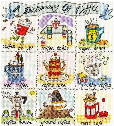 cliquez ici pour agrandir l'image de Dictionary of Coffee (kit de point de croix compté)