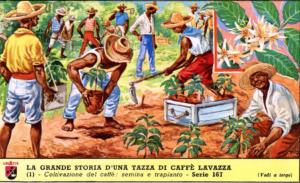 """Figurine de la série """"La grande histoire d'une tasse de café Lavazza"""" """"largeur ="""" 300 """"hauteur ="""" 183"""