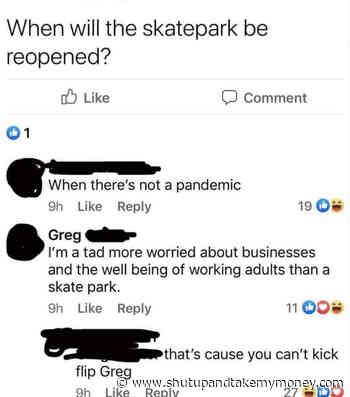 Quand le skatepark sera-t-il rouvert? - Meme