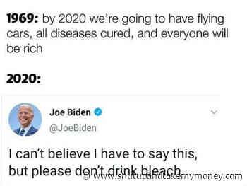 Biden, ne buvez pas d'eau de Javel Tweet
