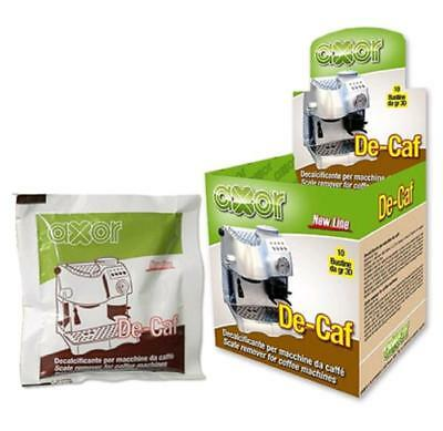 Machines à café détartrantes 10 sachets de 30gr. Produit italien AXOR