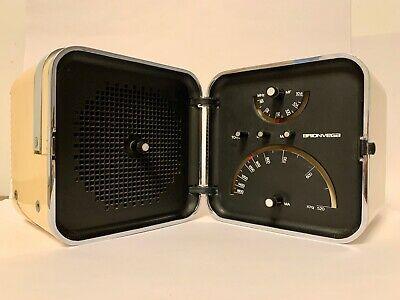 BRIONVEGA TONE Ts 502 CUBO blanc Radio Zanuso Sapper Design Vintage période endommagée