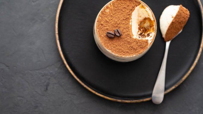 Tarte au café et biscuit