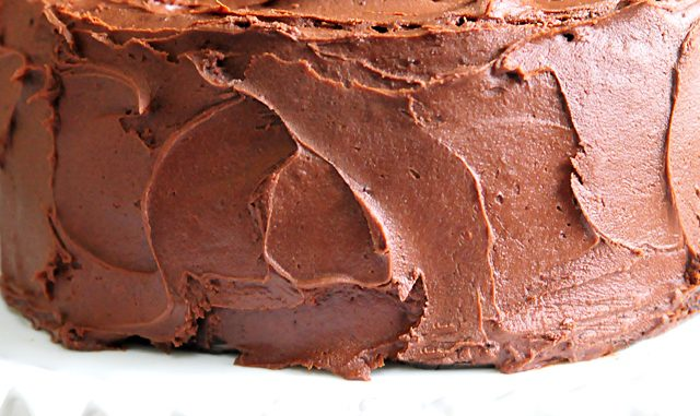 The Best Chocolate Cake Recipe Ever. The Best Chocolate Cake recipe with decadent Chocolate Buttercream Frosting that will quickly become your favorite! // addapinch.com #chocolatecake