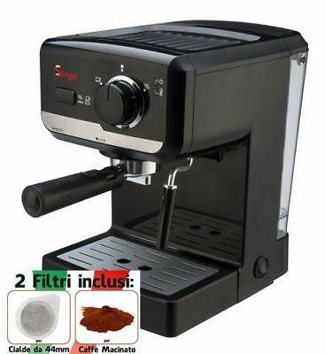 Machine à café expresso et cappuccino 2 FILTRES Dosettes / POMPE ITALIENNE moulue