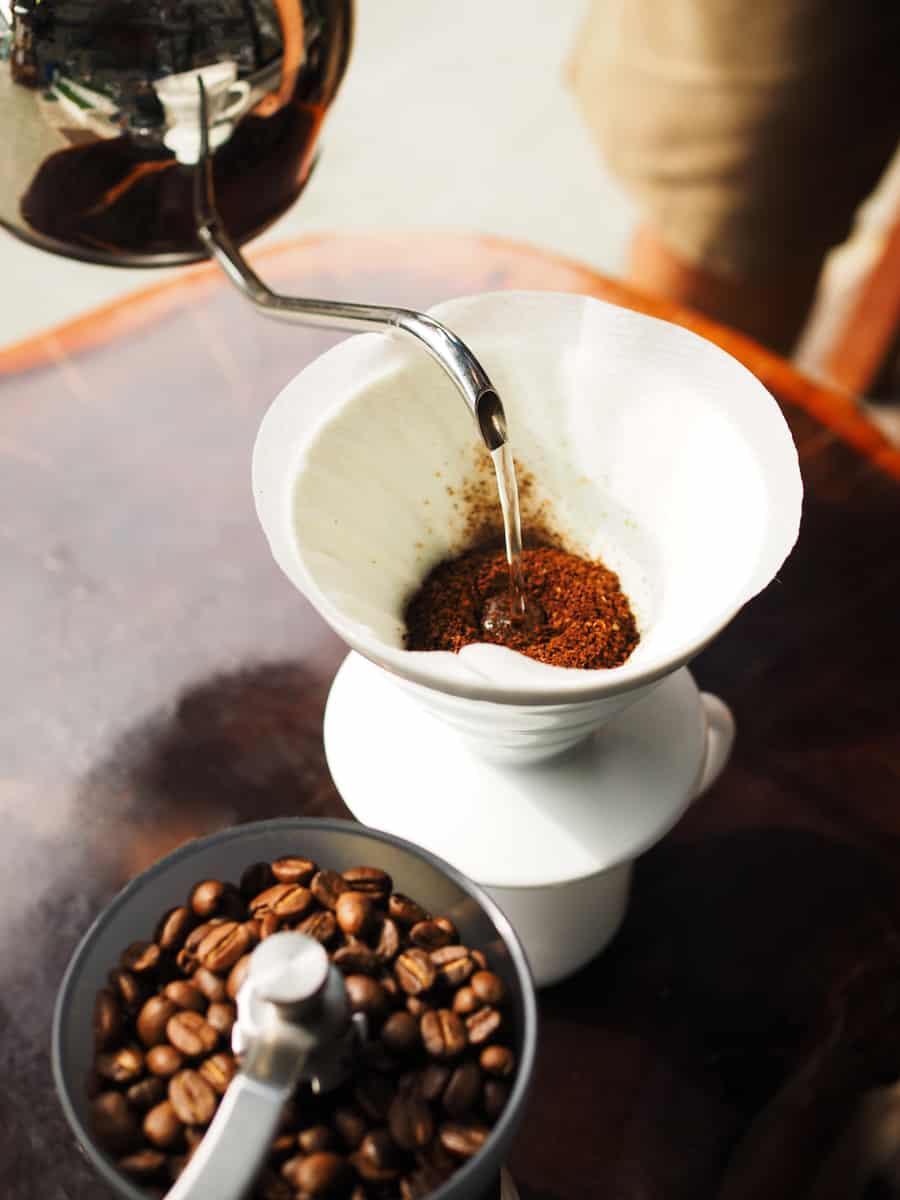 ce qui est versé sur le café