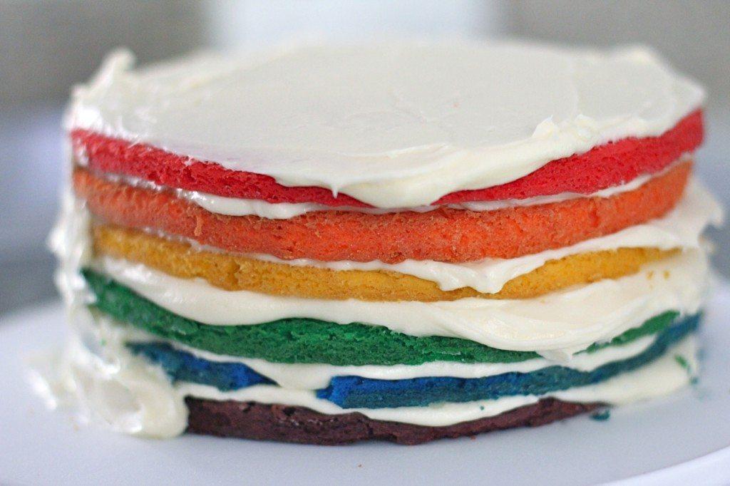 recette de gâteau arc-en-ciel