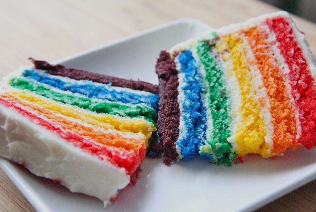 recette de gâteau maison arc-en-ciel 3