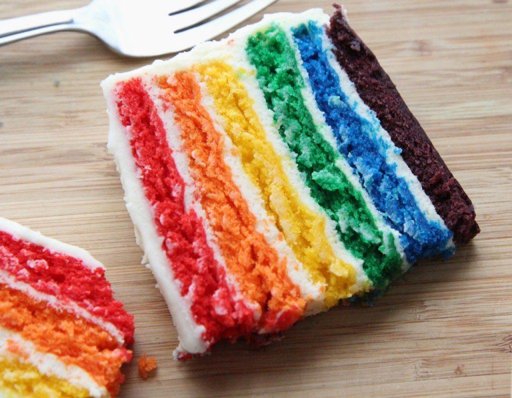 recette de gâteau maison arc-en-ciel 1