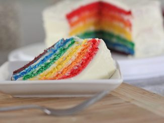 homemade rainbow layer cake recipe 4