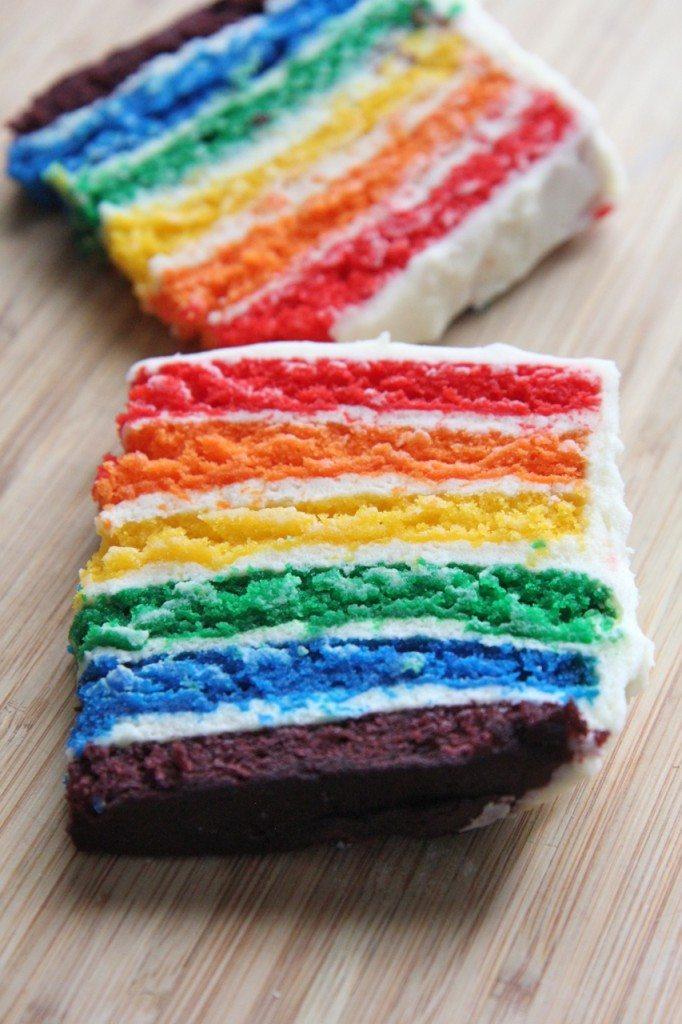 recette de gâteau maison arc-en-ciel 2