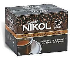 50 dosettes individuelles Nikol Espresso Napoletano Cremoso dosettes universelles