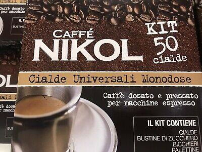 50 dosettes de café Nikol Espresso Napoletano Univ Monodose Sugar Kit Pods