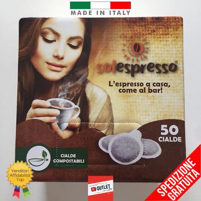 KIT 50 PODS ESE 44 CAFÉ SOLESPRESSO Espresso Napoletano Special Gusto Bar