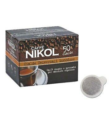 50 dosettes unidoses NIKOL COFFEE papier filtre compatible Mokona