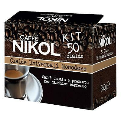 Kit de 50 capsules de café napolitain Nikol Espresso crémeux avec verres