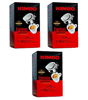 54 dosettes unidoses CAFÉ KIMBO ESPRESSO NAPOLETANO filtre en papier café