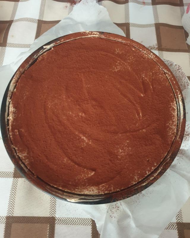 Gâteau au café gâteau au fromage au café frais avec ricotta
