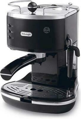 De Longhi Icon ECO 311.BK Machine à café espresso noir avec dosettes et poudre
