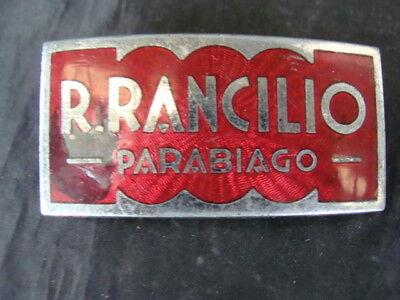 Plaque Rancilio levier espresso machine à café emblème vieux moulin à café
