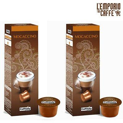 100 Capsules Caffe Caffitaly System Ecaffè Mocaccino Boisson Cacao et Cappuccino